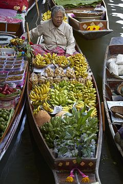 Drijvende markt Thailand van Karel Ham