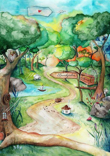 Fantasie Märchenwald von keanne van de Kreeke