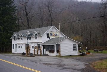 Catskills gasstation  van Victor de Reuver