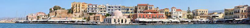 Chania Venetian Harbour Panorama van Panorama Streetline