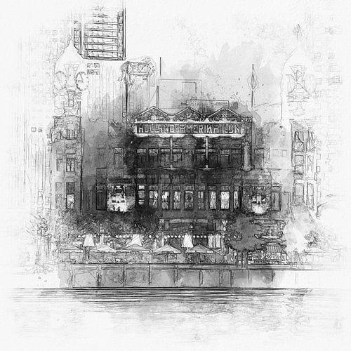 Hotel New York Rotterdam schets