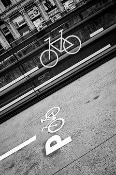 geverfde fiets van celine bg