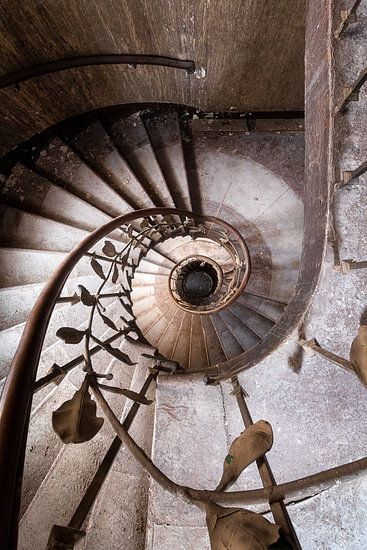 Treppe im verlassenen Theater.