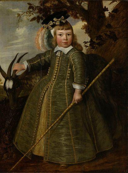 Portret van een jongetje met een bok, Jan Albertsz. Rotius van Meesterlijcke Meesters