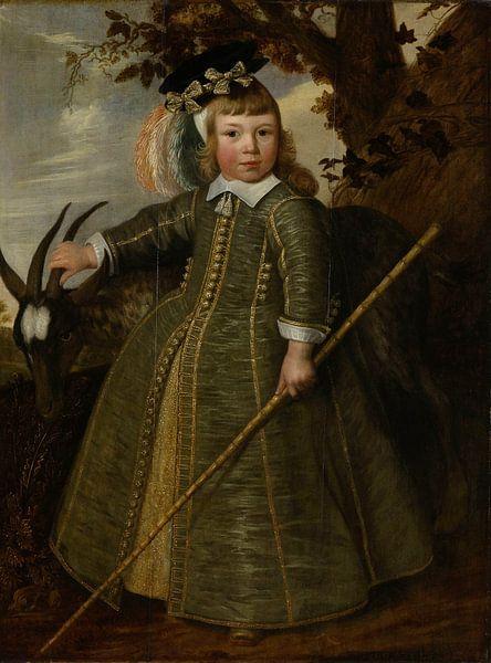 Portret van een jongetje met een bok, Jan Albertsz. Rotius