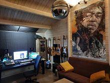 Klantfoto: Jimi Hendrix pop art van Jos Hoppenbrouwers, op canvas