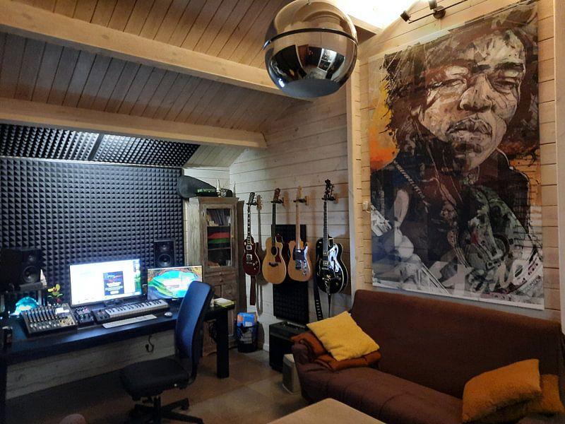 Klantfoto: Jimi Hendrix pop art van Jos Hoppenbrouwers