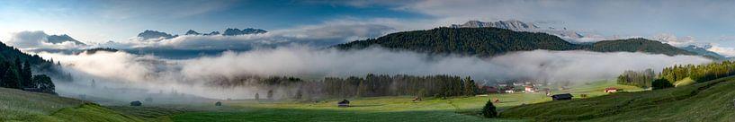 Panoramablick am Geroldsee von Andreas Müller
