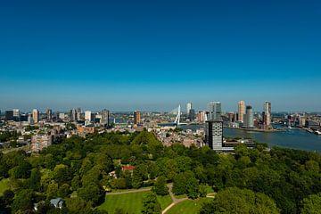 De Erasmusbrug Rotterdam vanaf de Euromast. von Brian Morgan