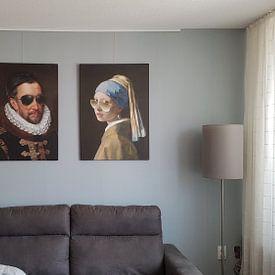 Klantfoto: Willem I met zonnebril, prins van Oranje, Adriaen Thomasz. Key, op canvas