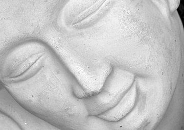 Buddha face 3 van Roswitha Lorz
