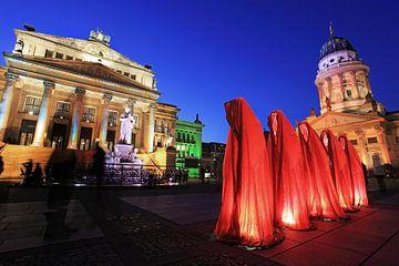 Cinq sculptures sur le Gendarmenmarkt de Berlin