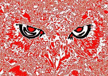 Owl's face #4 van Leopold Brix