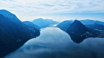 Het meer van Lugano van