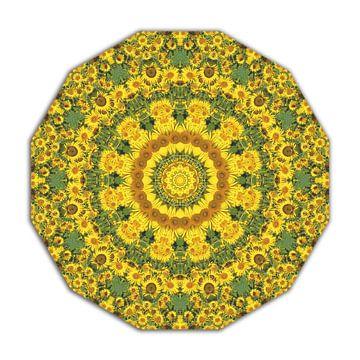 Flower Mandala, Sunflowers van Barbara Hilmer-Schroeer