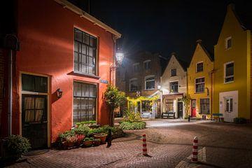 Deventer Walstraat in de avond van Edwin Mooijaart