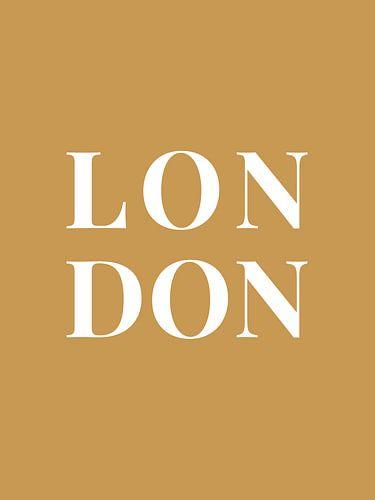 LONDON (in goud/wit)