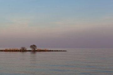Abendstimmung am IJsselmeer von Jolanda Sprokholt