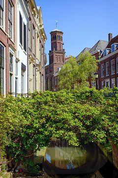 De Kromme Nieuwegracht in Utrecht met de Ottonekerk in de lente van De Utrechtse Grachten