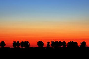 Zonsondergang Strijensas Zuid-Holland Nederland  van