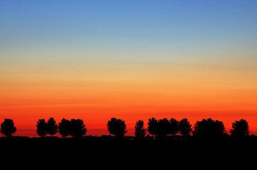 Zonsondergang Strijensas Zuid-Holland Nederland