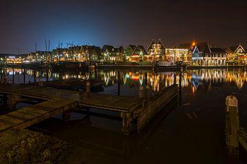 Avondfoto in Haven van Volendam van Jack Koning
