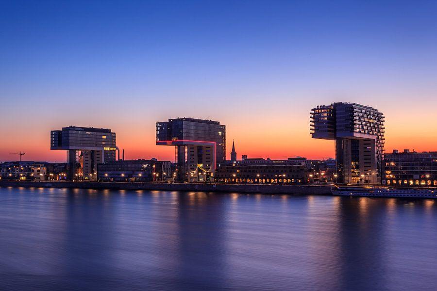 De drie kraangebouwen van Keulen.