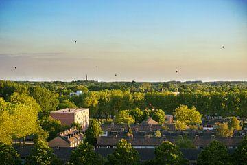 Hete lucht ballonen boven Breda van Bas Witkop