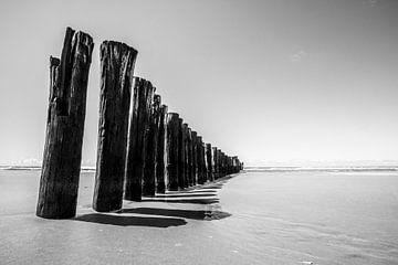 golfbreker in zee 1 van Peter Heins