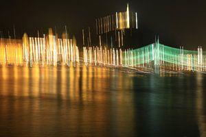 Kleurrijke lichten in Boedapest van hako photo