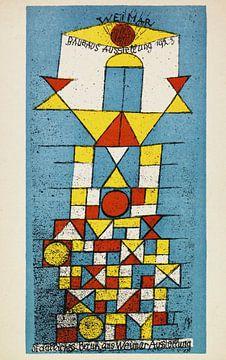 Ansichtkaart Bauhaus-tentoonstelling - Paul Klee, 1923 van Atelier Liesjes