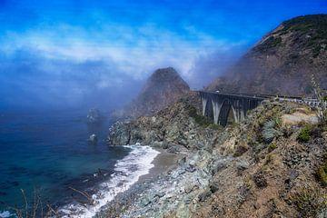 Highway One Californië Big Sur van VanEis Fotografie