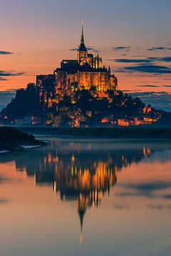 Mont Saint-Michel, Normandië, Frankrijk van Henk Meijer Photography