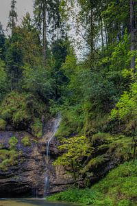 A little Waterfall from the Cliff into the Weißbach