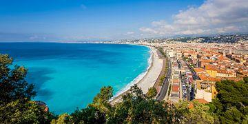 Promenade des Anglais in Nice aan de Côte d'Azur van Werner Dieterich