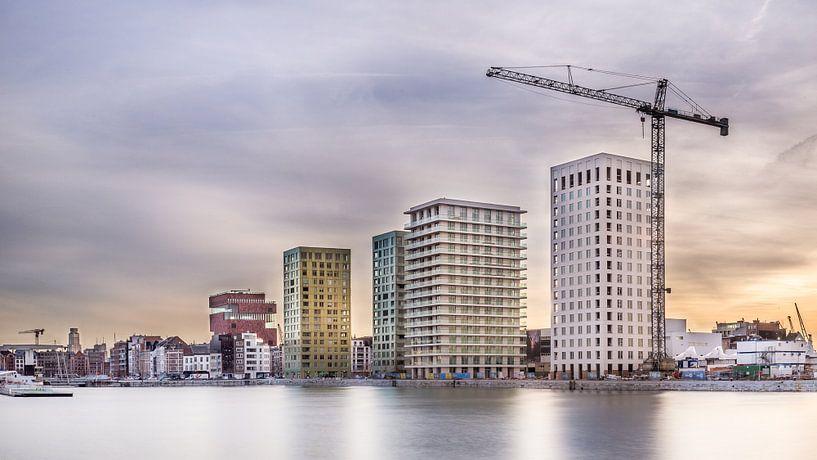 Antwerp Skyline 2 van Tom Opdebeeck