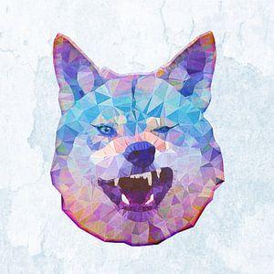Grinsender Wolf von Anne Ebert