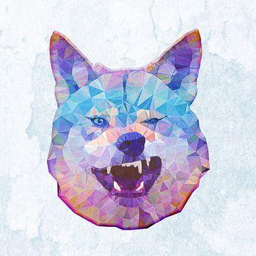 Grinsender Wolf van Anne Ebert