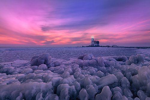 Cold sunrise in Marken sur