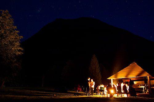 Nacht op de camping van