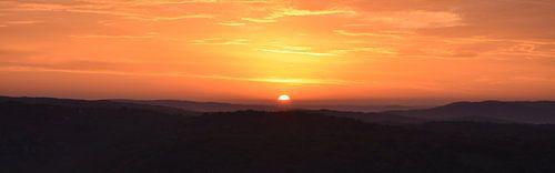 Panorama zonsopkomst van
