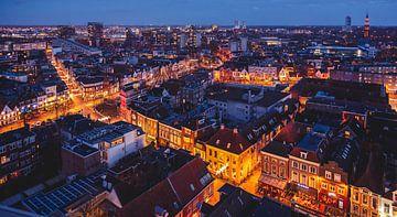 Skyline Groningen, Sint-Jozefkathedraal, Schuitendiep, binnenstad, Oosterpoortbuurt, Damsterbuurt van Harmen van der Vaart