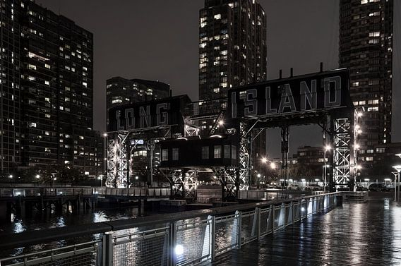 Alte Hafenanlage in New York  Long Island