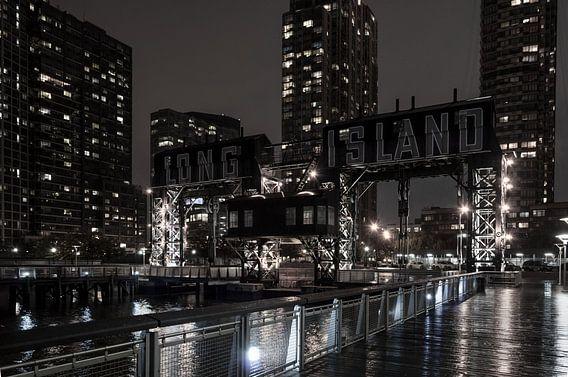 Alte Hafenanlage in New York  Long Island van Kurt Krause