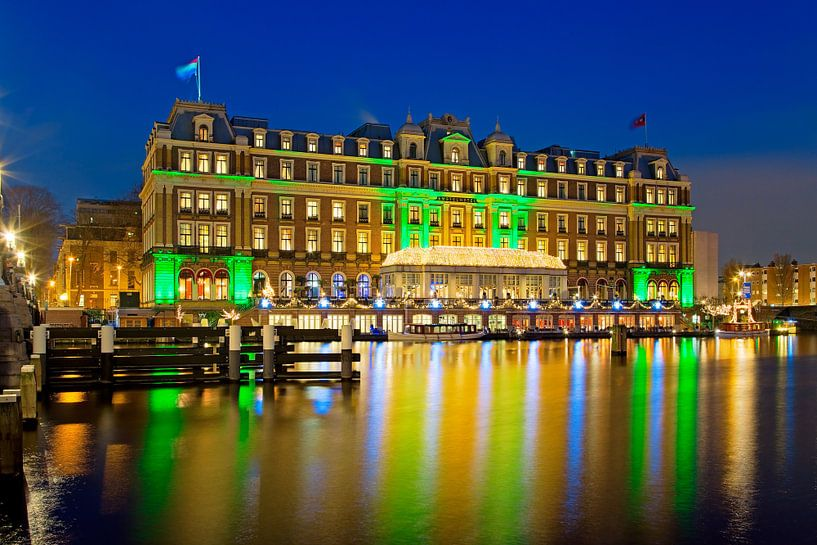 Amstel Hotel nachtfoto te Amsterdam van Anton de Zeeuw