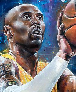 Kobe Bryant schilderij van Jos Hoppenbrouwers