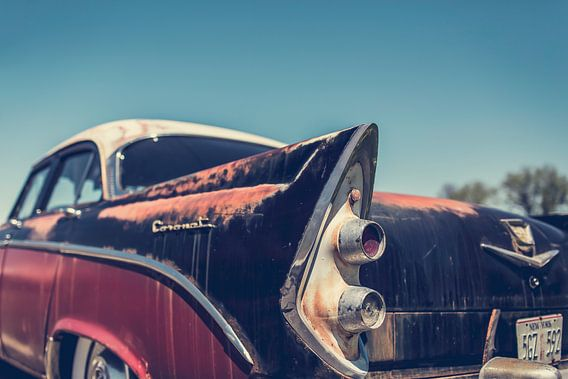 Achterkant van een Dodge Coronet Oldtimer Auto