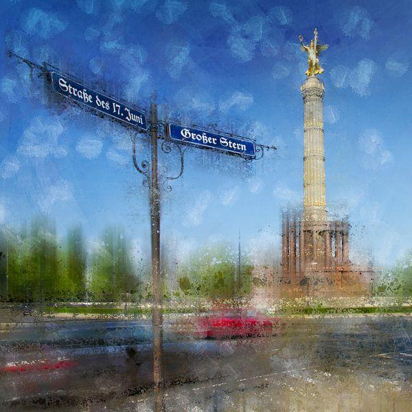 City-Art Berlin Victory Column van Melanie Viola