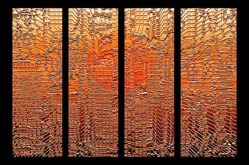 Vierluik, oranje panelen.