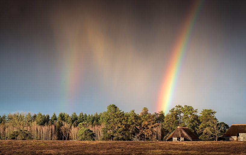 Rain en rainbow van René Vierhuis